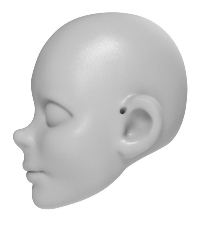 Young boy head model for 3D printing
