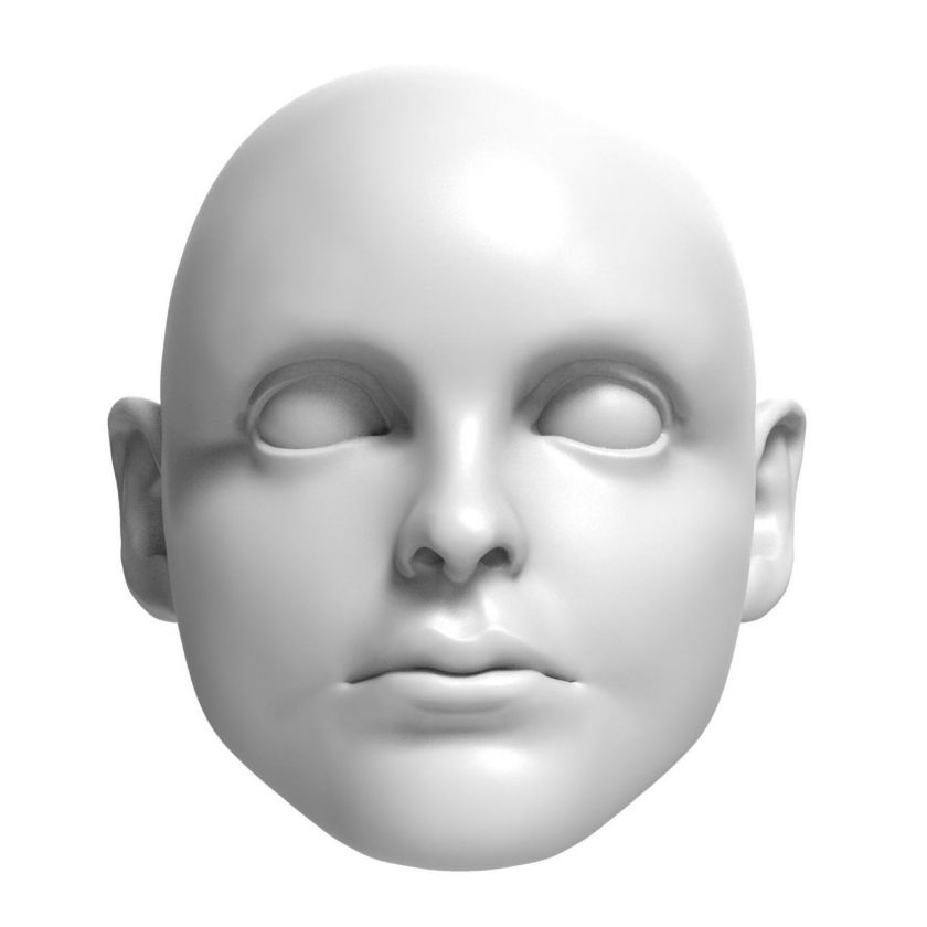 3D Model of 13 years old boy head for 3D print 115 mm