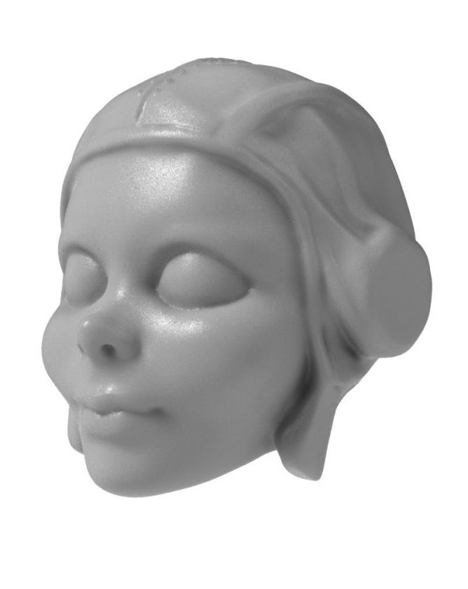 3D Model of young pilot head for 3D printing