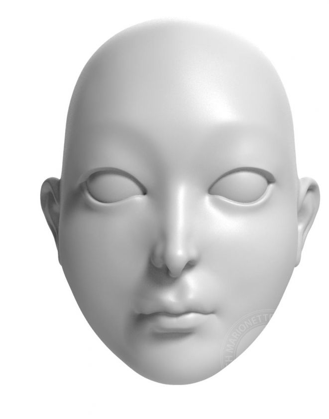 Princess - model of head for 3D printing