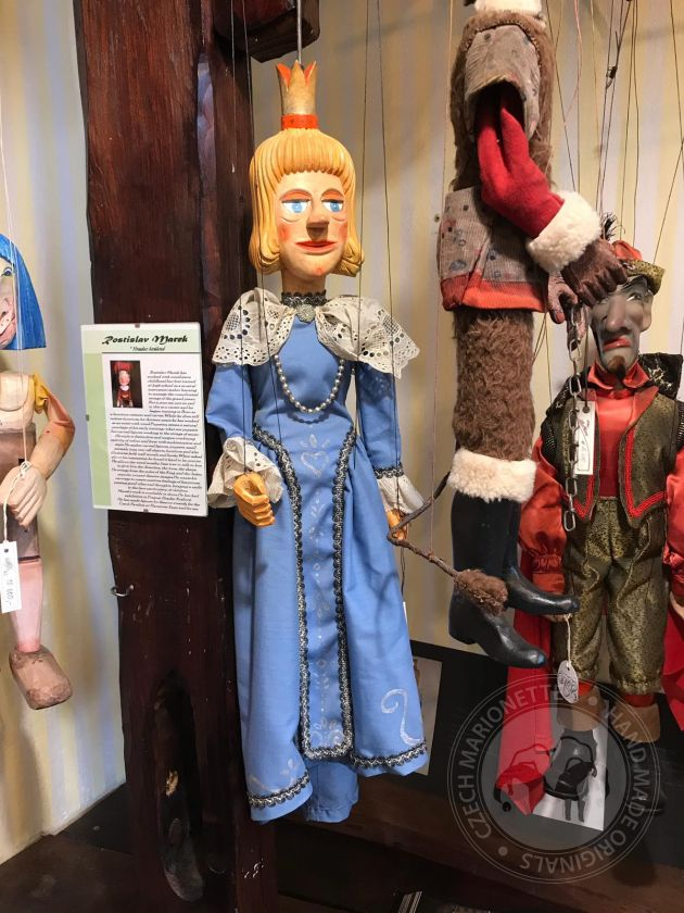 The Blue queen - antique marionette