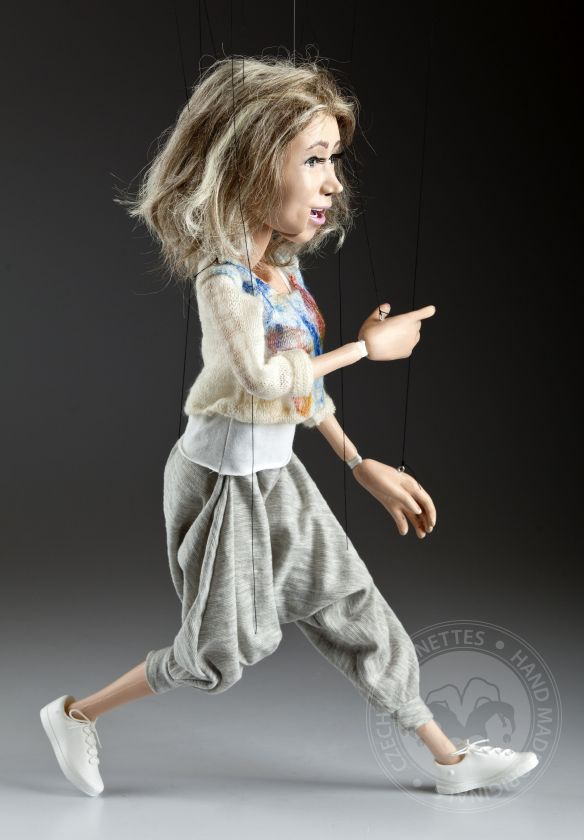 Portrait marionette - 80cm (30inch), movable mouth
