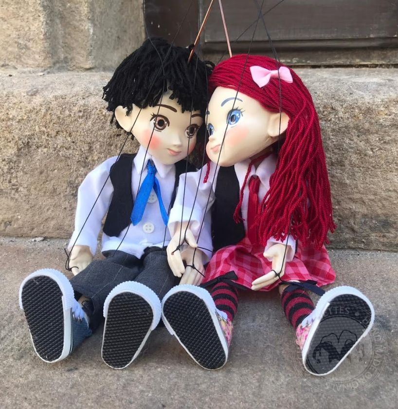 Marionette couple in Manga style