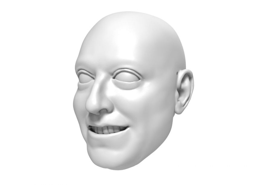 3D Model of a businessman's head for 3D print 145mm