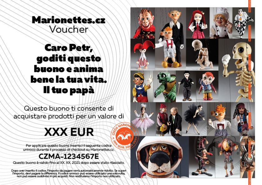 Gift Voucher for a marionette