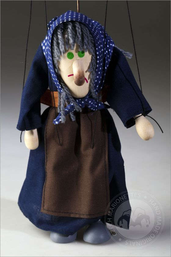 Hunchbacked Witch Marionette