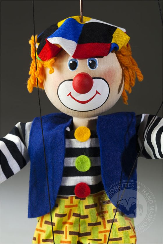 Coloured beret Clown Marionette