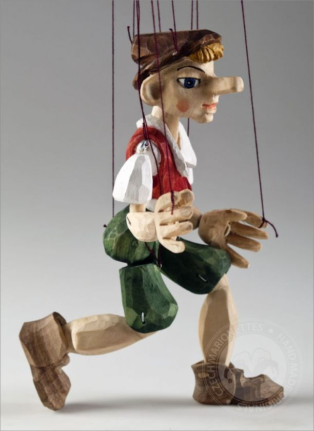 Pinocchio Hand Carved Marionette from linden wood (S Size)