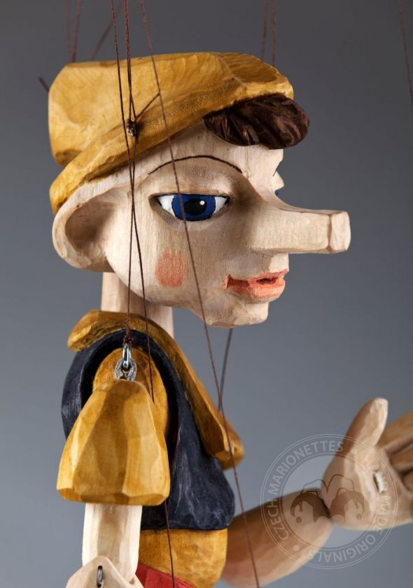 Pinocchio Hand Carved Marionette from linden wood (M size)