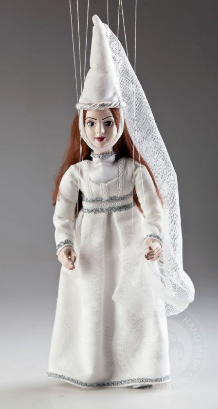 White Lady Czech Marionette Puppet
