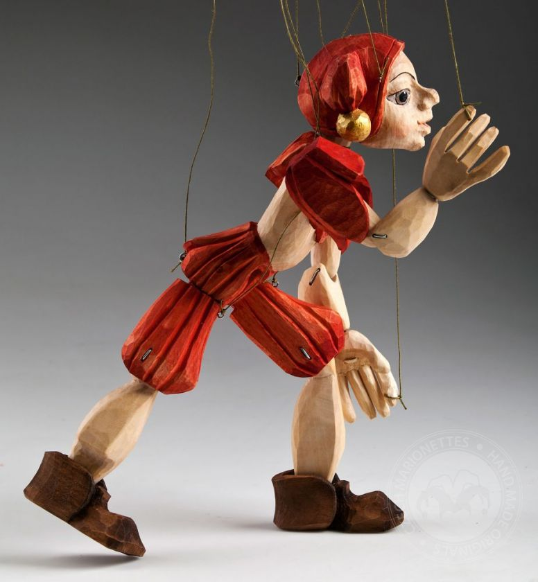 Jester Hand Carved Marionette (M Size)