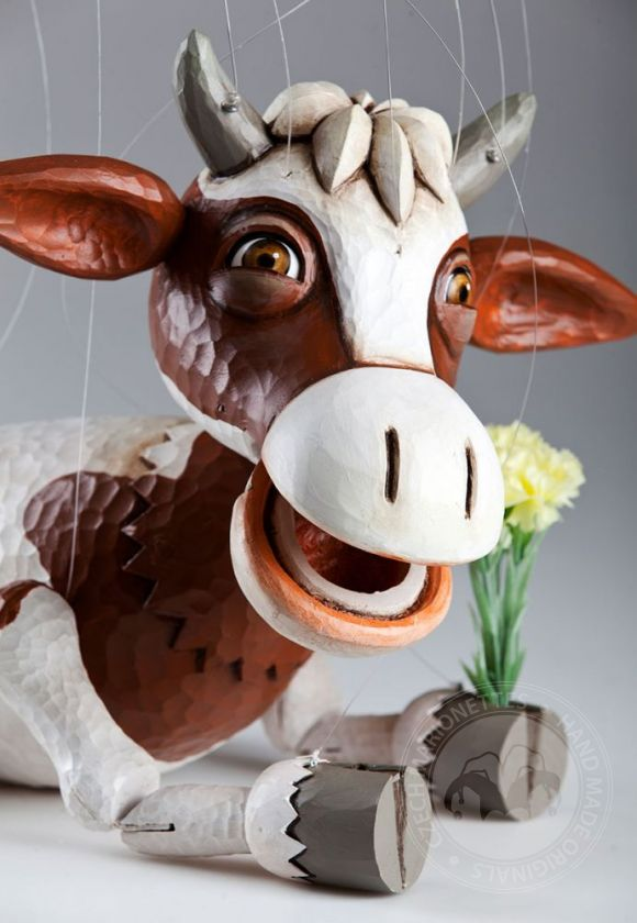 Happy Cow Czech Marionette