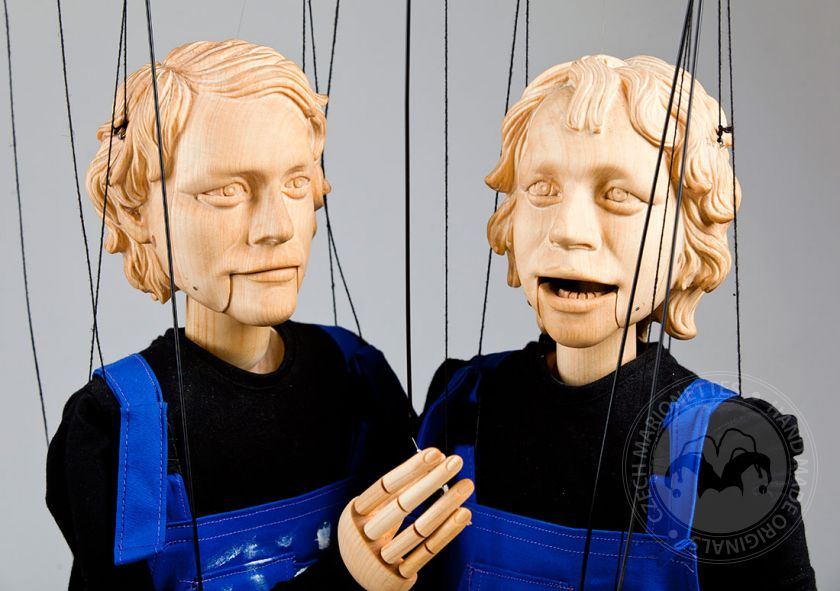 Wooden Twins Marionettes