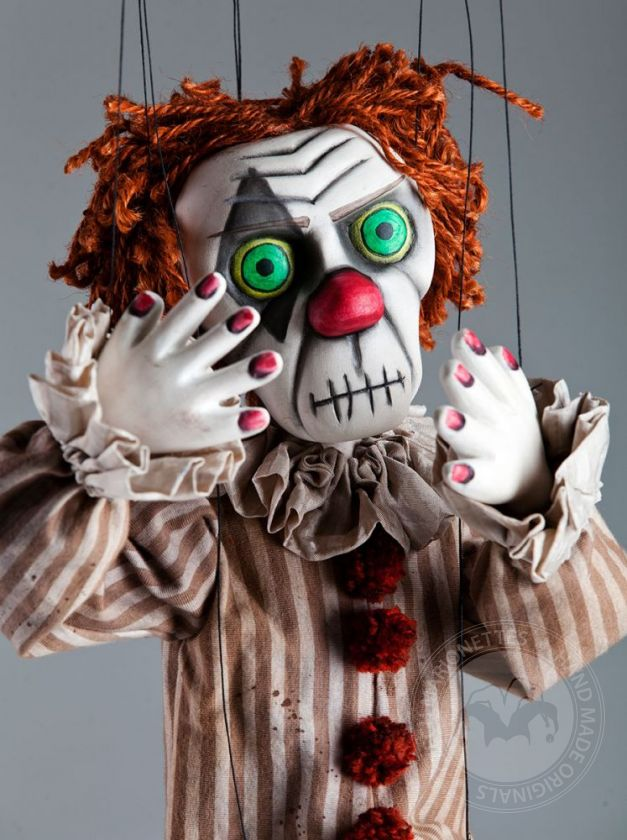 Creepy Clown Handcarved Marionette