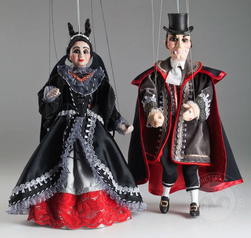 Mr. and Mrs. Dracula Marionettes
