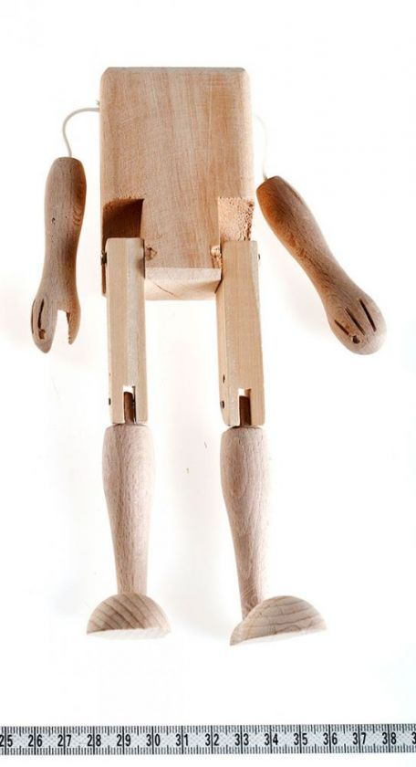 Marionette making: Body, hands, legs 21 cm
