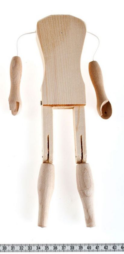 Marionette making: Female body 26 cm