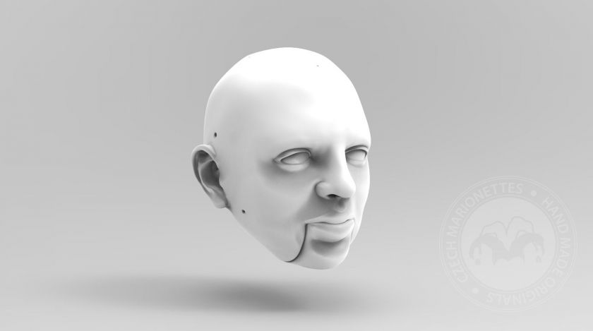 3D Model of a Man with greek nose type for 3D print