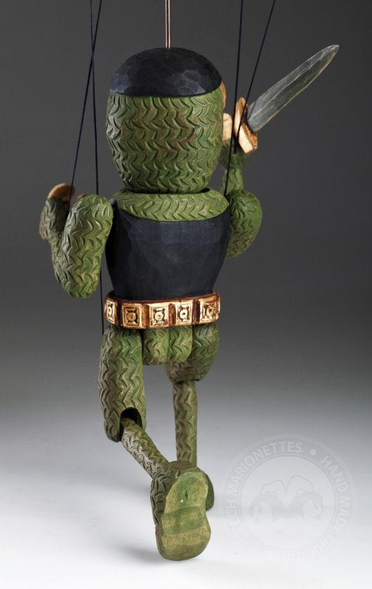 Knight Adrian - wooden hand-carved marionette