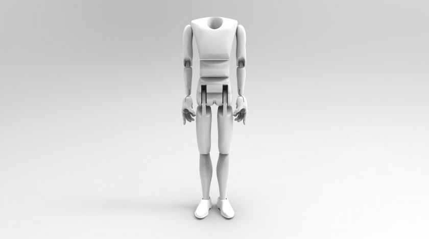 Man with movable torso