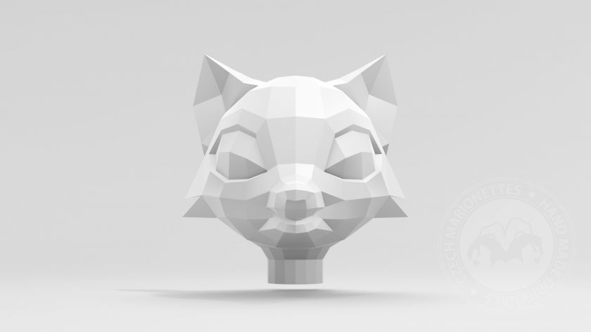 Fox head for 3D printing