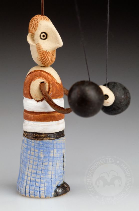 Weightlifter from ceramic
