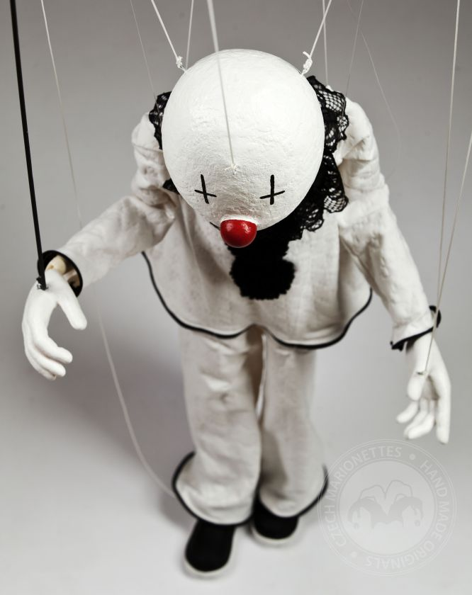 Pierrot Marionette with Clown face