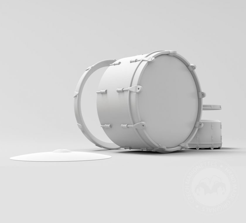 Drums model for 3D printing