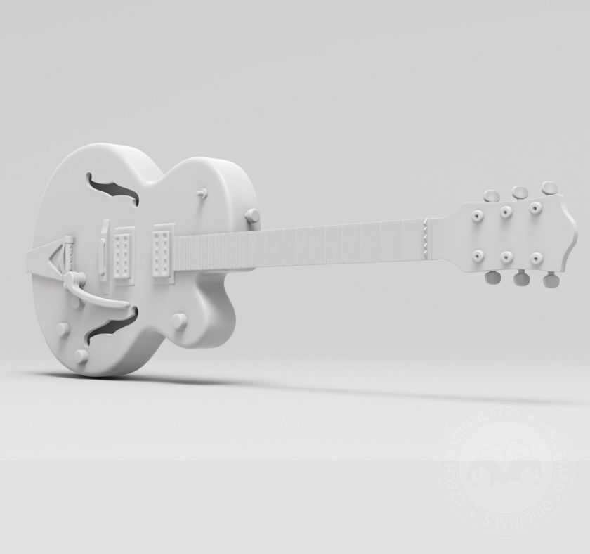 Electric guitar model for 3D printing