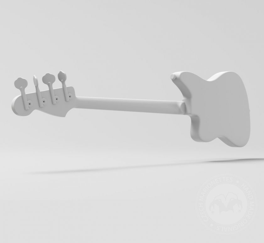 Bass Guitar model for 3D printing
