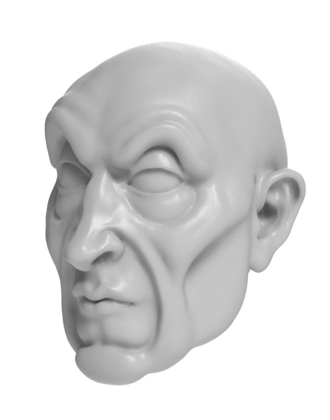Wizard - head model for 3D printing