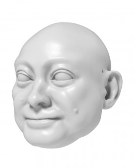 3D Model of prosperous man's head for 3D print 130 mm