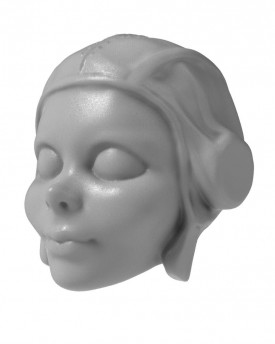 Young pilot - model of head for 3D printing