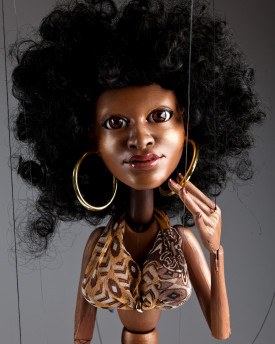 Afro-american girl - model of head for 3D printing