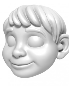 COCO – 3D head model of a Boy in animated style for 3D printing 135 mm