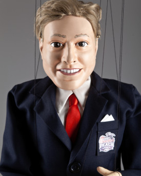 Portrait marionette of Business Man - 80cm (30inch) - basic