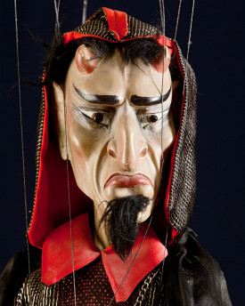 Unique antique marionette - Devil in a cape