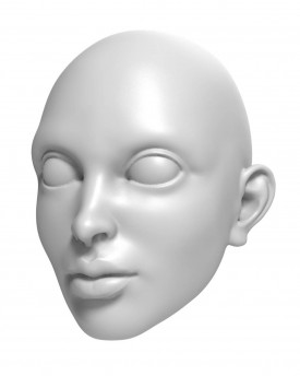 3D Model of woman with thick lips head for 3D print 115mm
