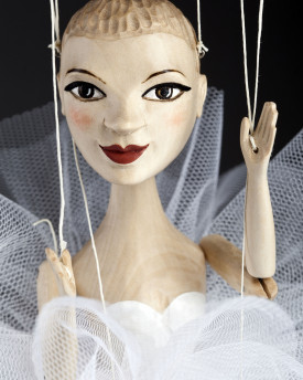 Ballerina wooden hand-carved marionette - Tiny Dancer