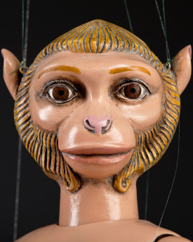 Monkey woman – unusual marionette with a girl's body and a monkey's head