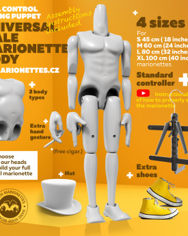 Male Marionette Universal Full Control Body – Ver 2.1