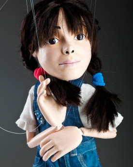 Portrait marionette of cute little girl - 60 cm (24 inch)