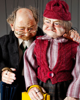 Old couple Fanny and Joe Marionettes