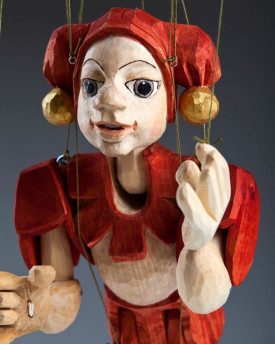 Jester Hand Carved Marionette (L Size)