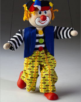 farbige Clown Marionette