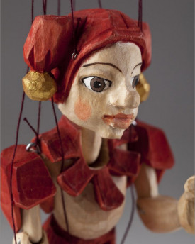 Jester Hand Carved Marionette (S Size)