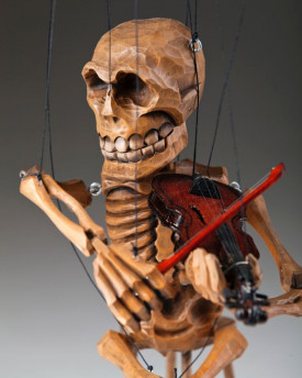 Skeleton Violin Player Marionette