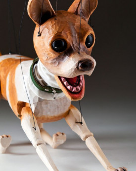 Chihuahua Handcarved Marionette