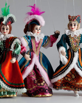 Three Charming Ladies Marionettes