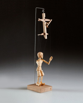 The smallest Jester marionette in the world - Jester precisely hand-carved from a linden wood